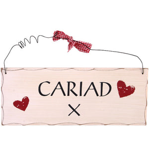 'Cariad' Contemporary Shabby Chic Sign [AG]