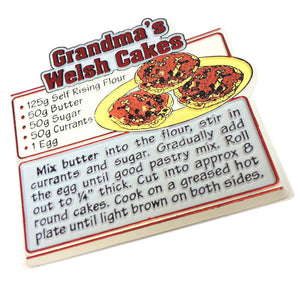 Grandmas Welsh Cake Mouled PU Fridge Magnet [wm270]