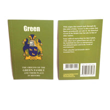 Green Family Surname Origins and History Pocketbook