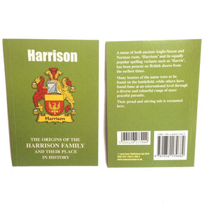 Harrison Family Surname Origins and History Pocketbook
