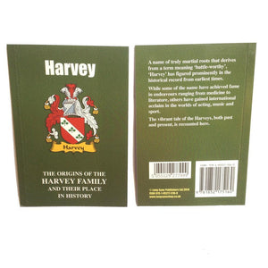 Harvey Family Surname Origins and History Pocketbook