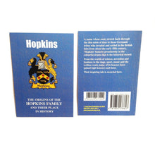 Hopkins Family Surname Origins and History Pocketbook