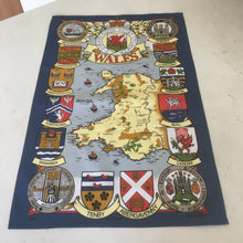 Wales Map & Crest Large Tea Towel [wt30]