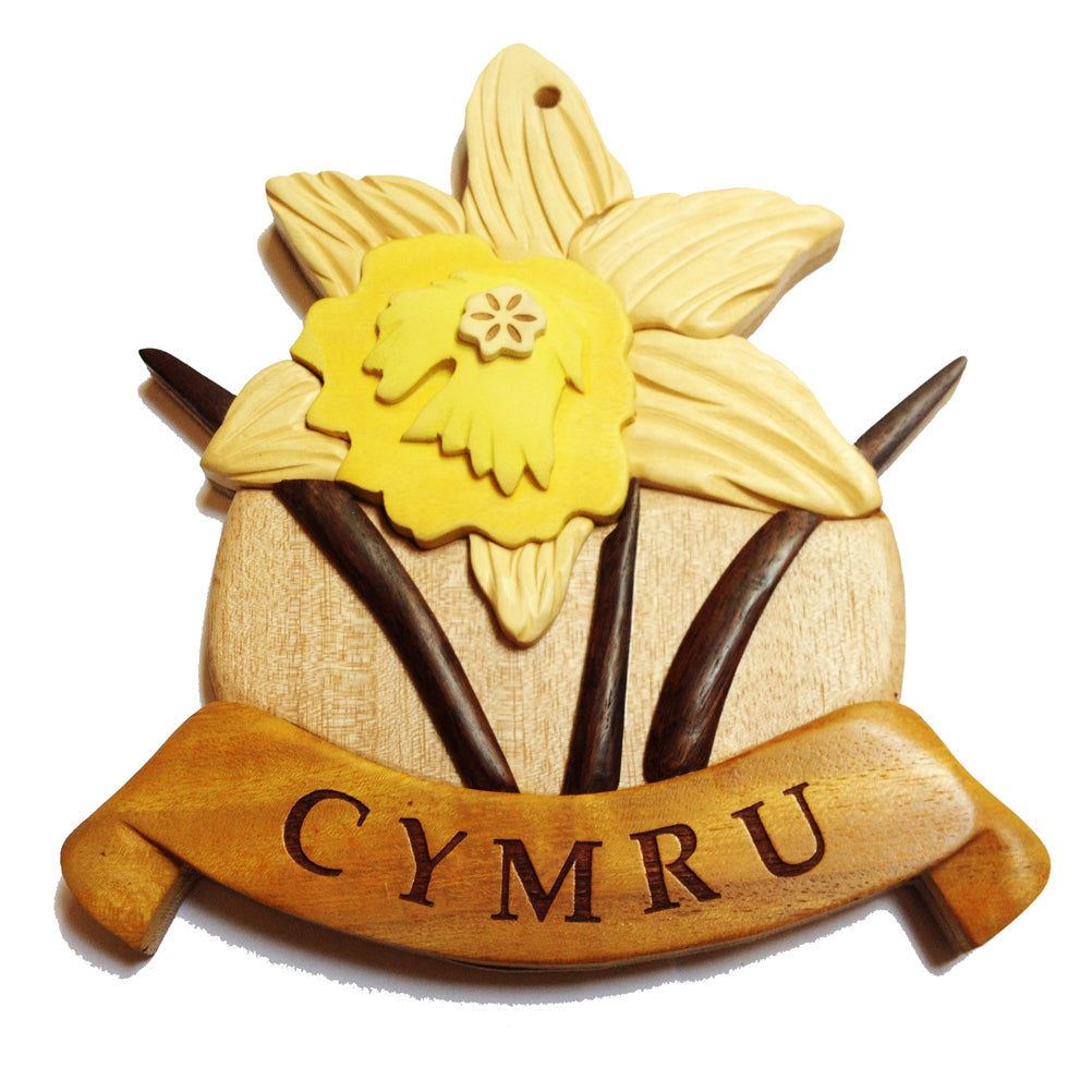 Welsh Daffodil Wooden Wall Plaque
