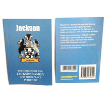 Jackson Family Surname Origins and History Pocketbook