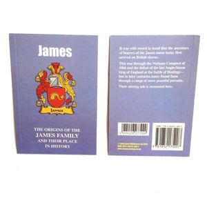 James Family Surname Origins and History Pocketbook