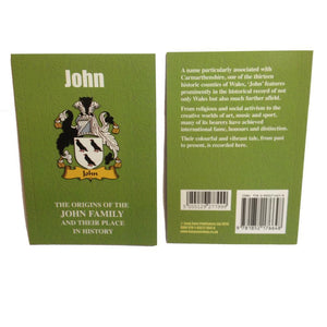 Johnson Family Surname Origins and History Pocketbook