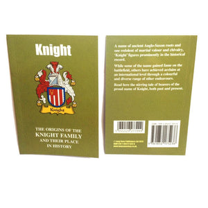 Knight Family Surname Origins and History Pocketbook