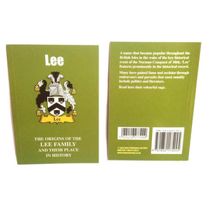 Lee Family Surname Origins and History Pocketbook