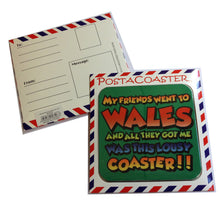 Wales Welsh Theme Post-A-Coaster Postcard Coaster