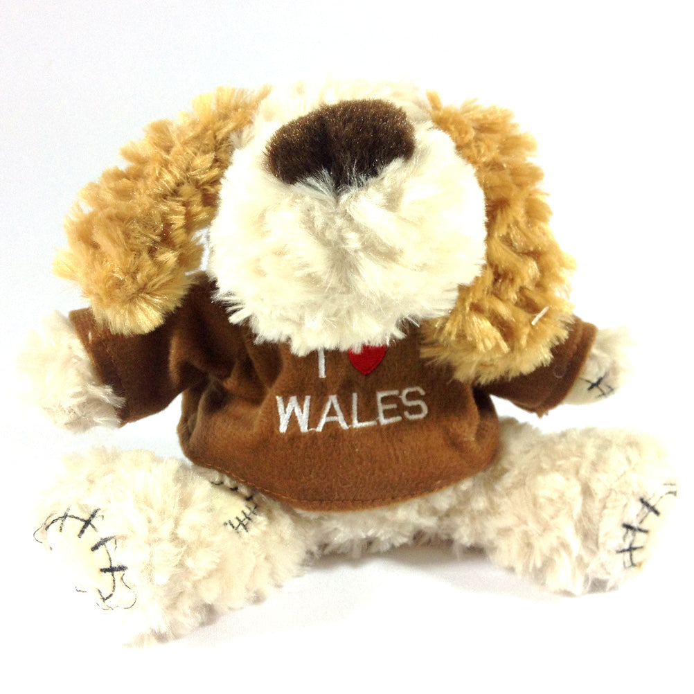 I Love Wales Jersey Dog Soft Toy [cream]