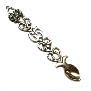 65th Birthday / Anniversary Polished Pewter Lovespoon