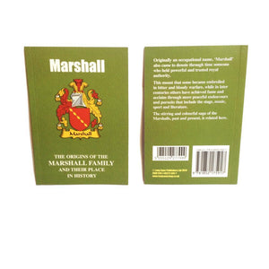 Marshall Family Surname Origins and History Pocketbook