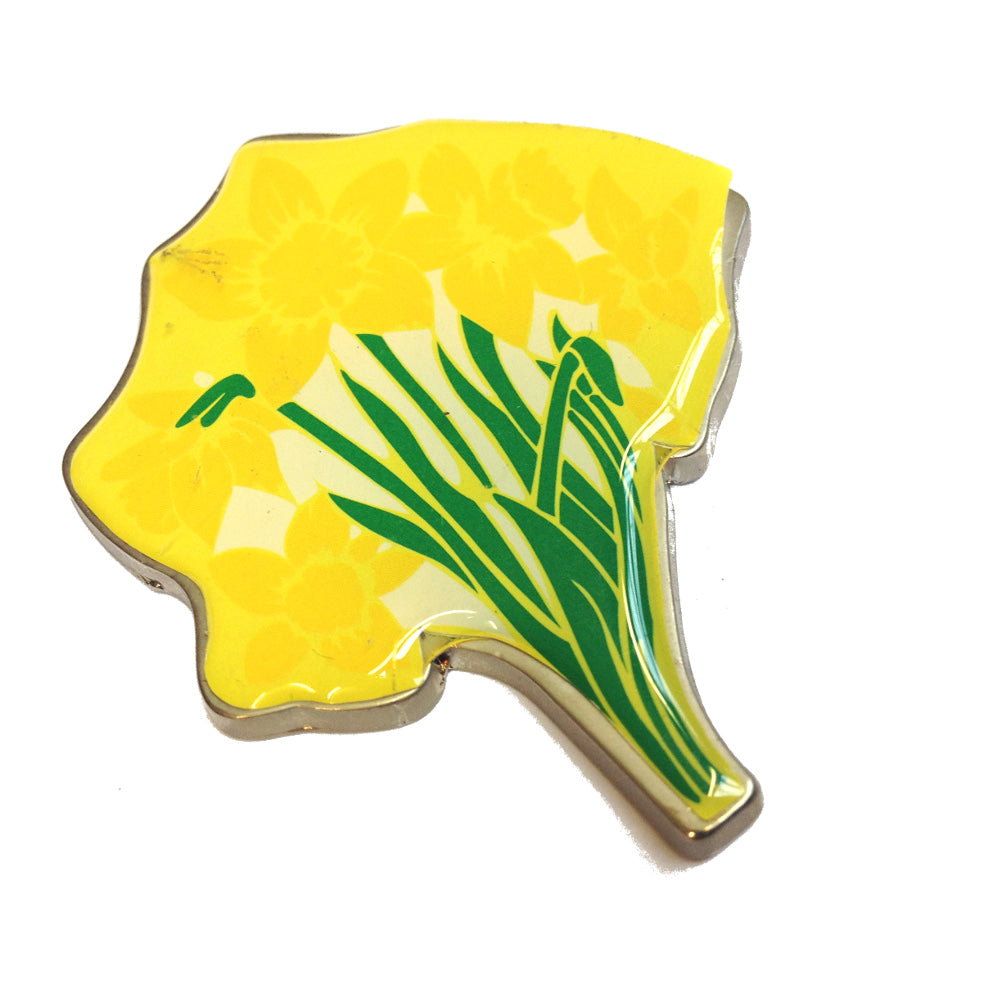 Wales Welsh Daffodils Metal Fridge Magnet