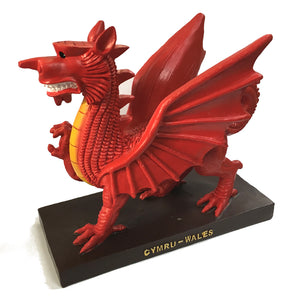 mgr 8in welsh dragon resin figure
