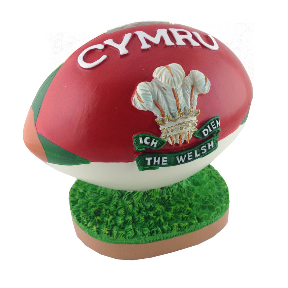 Mgr Special Wales Feathers Rugby Ball Moneybox
