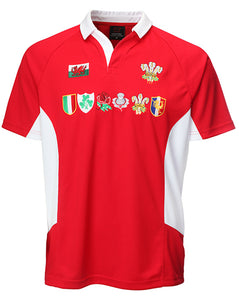Six Nations Multi Logo PolyDry Rugby Shirt