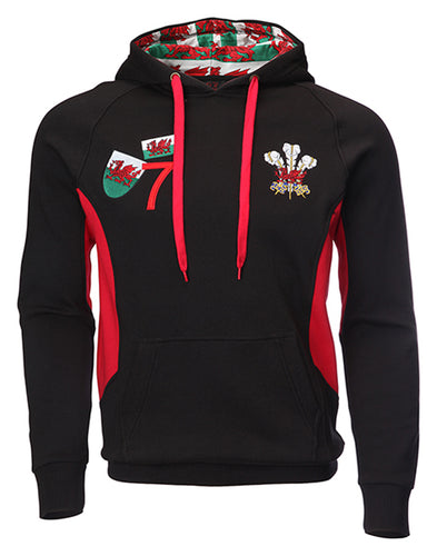 Wales Multi Logo Applique Feathers Hoody