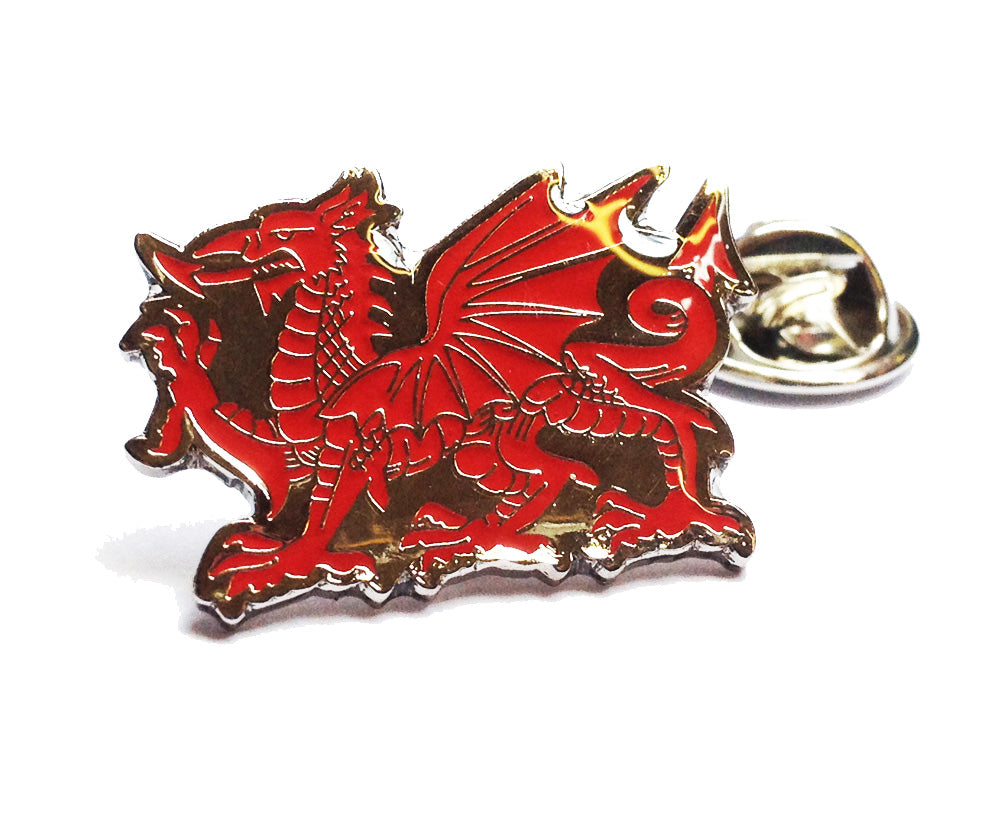 Wales Welsh Dragon Metal Pin Badge [wb224]