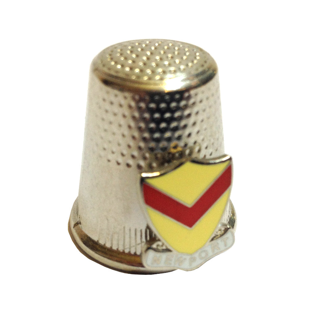 Newport City Crest Collectable Thimble