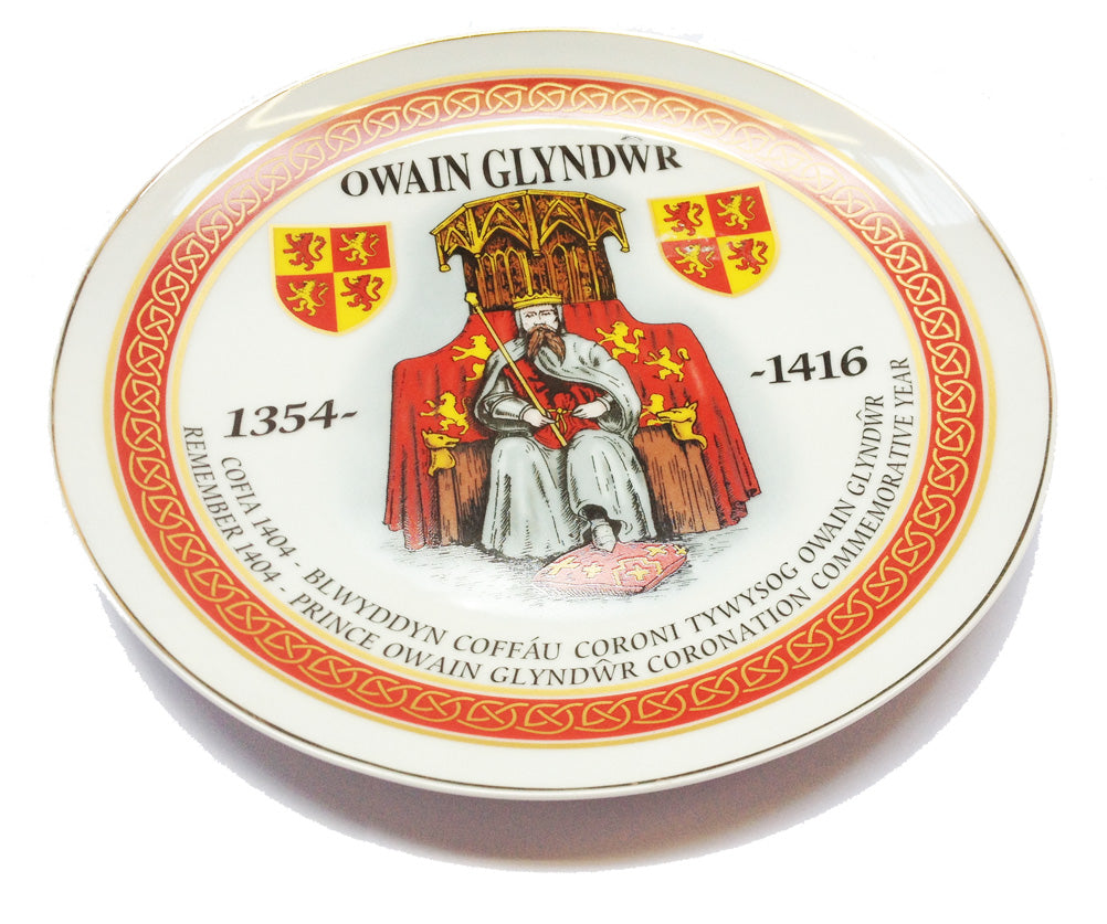 Owain Glyndwr Prince of Wales 7in Collector Plate w/stand [wg157]