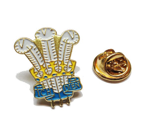 Wales Welsh Feathers Painted Pin Badge [wb31]