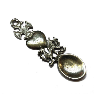 4in Hand Cast Boxed Pewter Welsh Lovespoon wn174