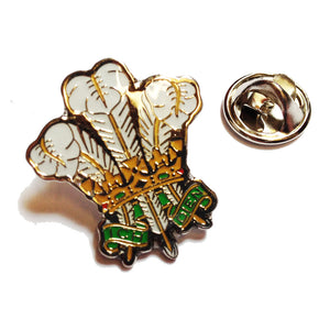 Prince of Wales Feathers Welsh Metal Pin Badge [wb225]
