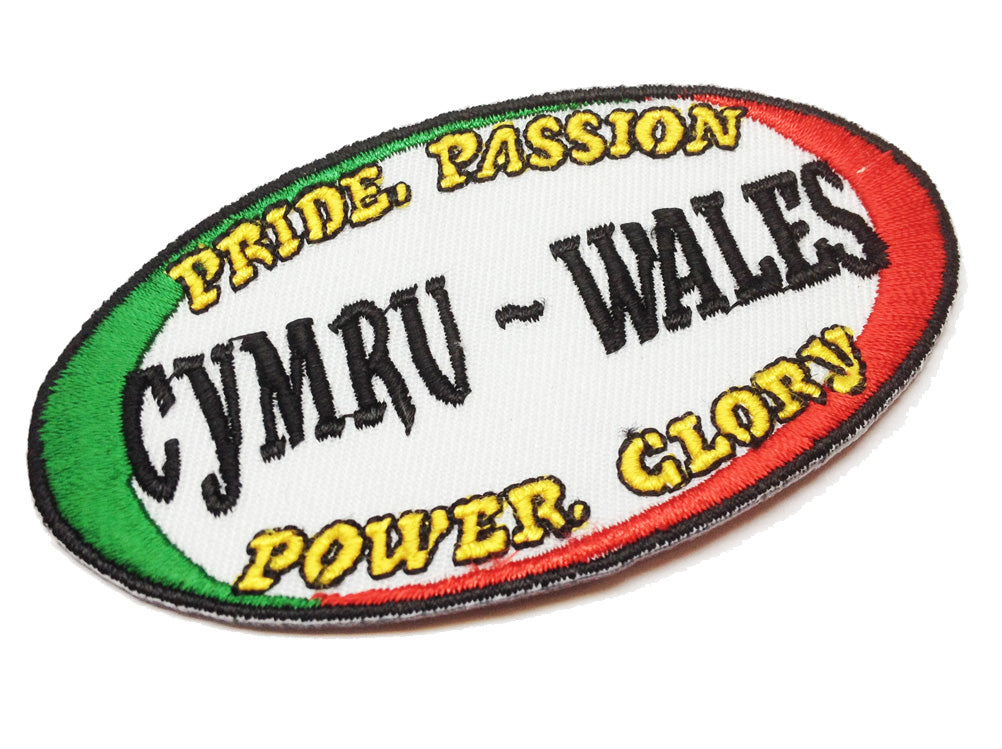 Wales Pride Power Rugby Ball Embroidered Patch Badge [wb144]