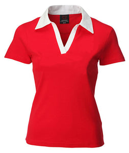 Classic Red & White Ladies Short Sleeve Wales Rugby Shirt