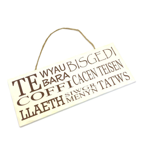 Wales Decorative Sign WELSH FOOD WORDS [wg551]