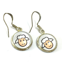 Wales Sheep Drop Earrings Handmade by JustJoss