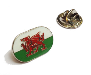 Welsh Flag Lozenge Metal Lapel Pin Badge
