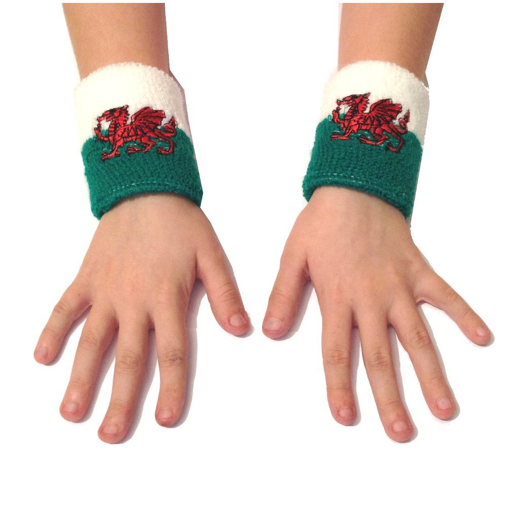 Wales Welsh Flag Wristband Sweatbands 2pk [wa123]