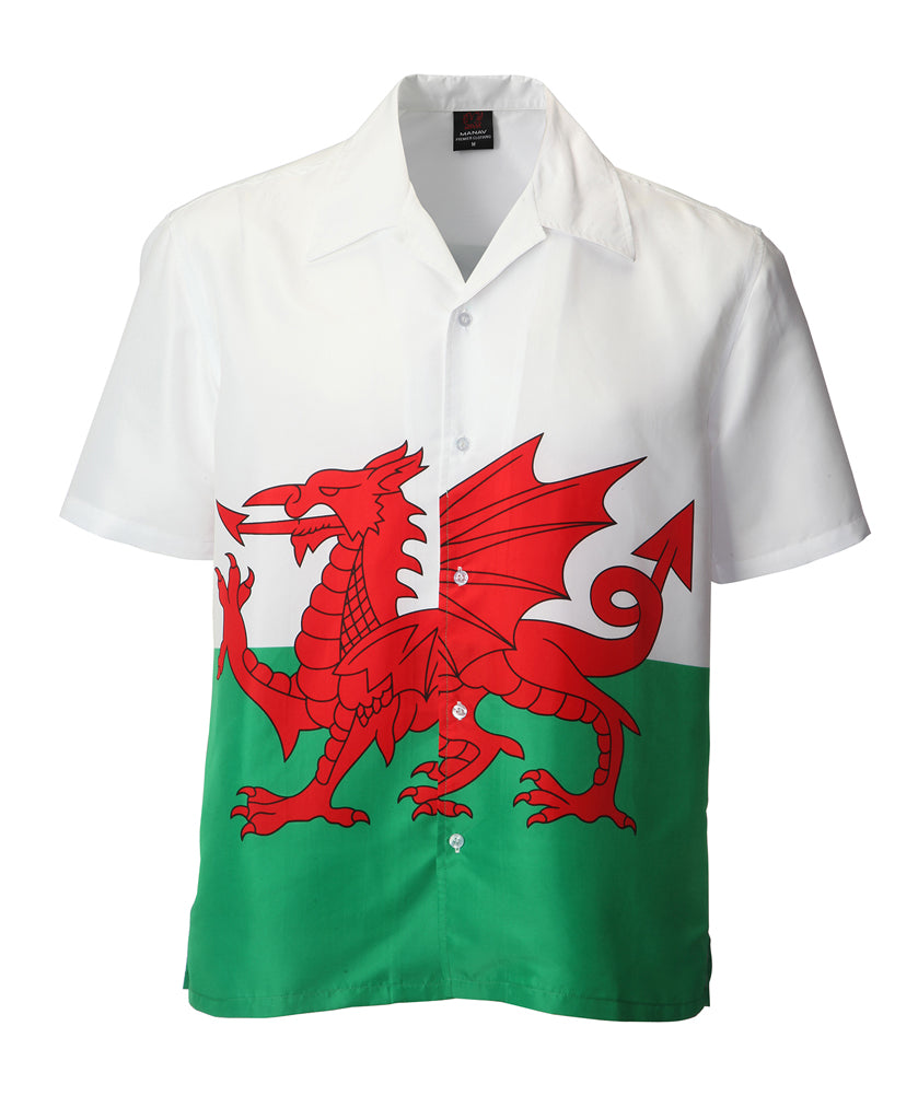 Mens Welsh Flag Shirt