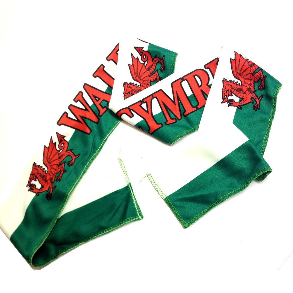 Wales Welsh Flag Supporter Headband Scarf