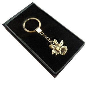 Wales Daffodil Gift Boxed Pewter Keyring [SJP]