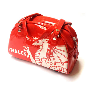 Wales Dragon Vinyl Handbag [red]