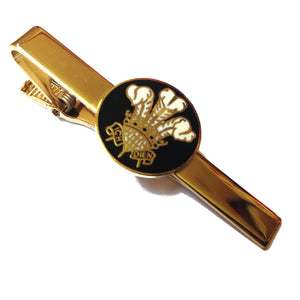 Prince of Wales Feathers Round Emblem Tie Clip [black-SJP]