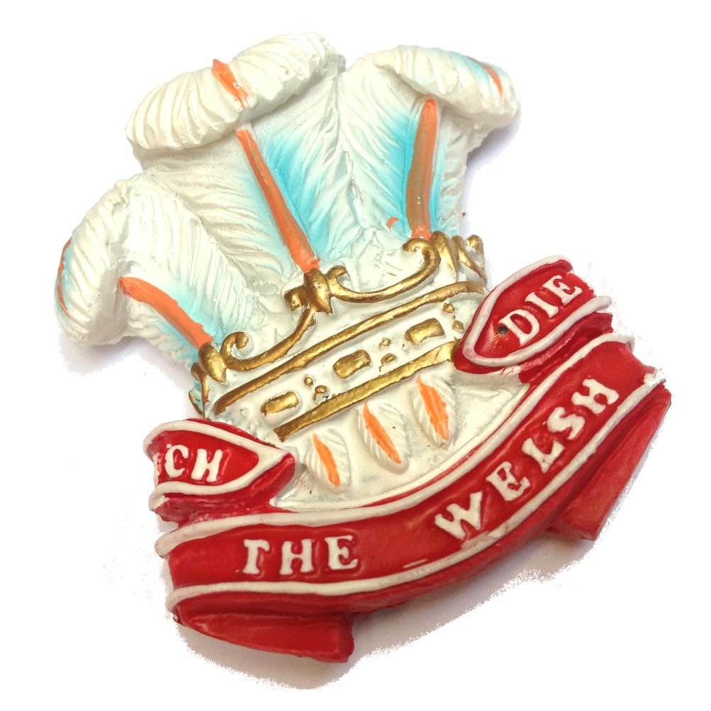 Ich Dien Wales Feathers Resin Fridge Magnet [mgr]