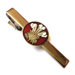 Prince of Wales Feathers Round Emblem Tie Clip [red-SJP]