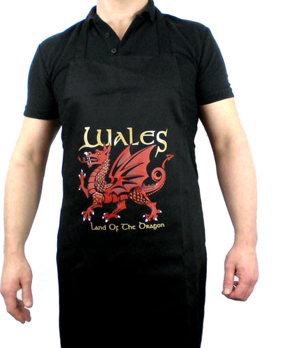 Wales Land of the Dragon Kitchen BBQ Apron