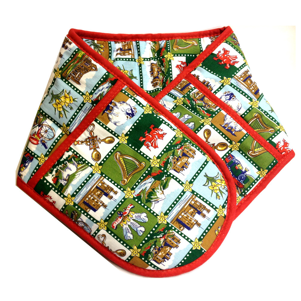 Wales Welsh Scenes Double Oven Glove