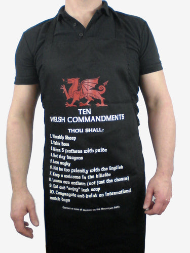 Wales Ten Commandments Black Apron