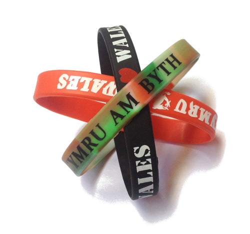 Wales 3pk Rubber Wristbands [wx290]