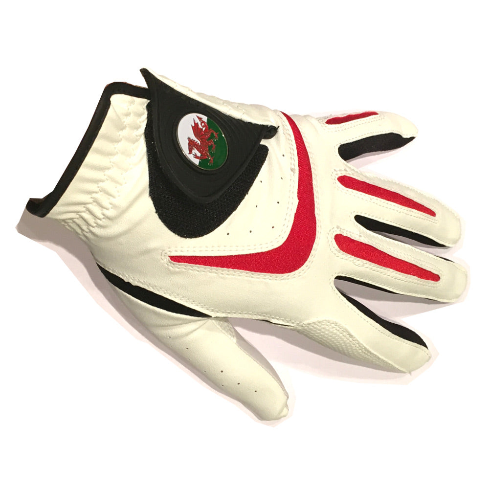 Wales Asbri Golf Glove with Magnetic Ball Marker