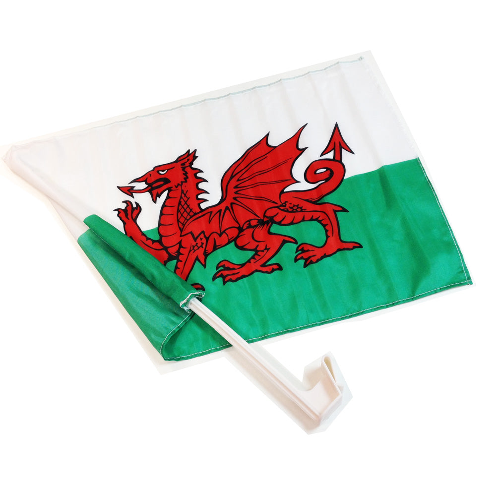 Wales Polyester Car Flag [wf45]