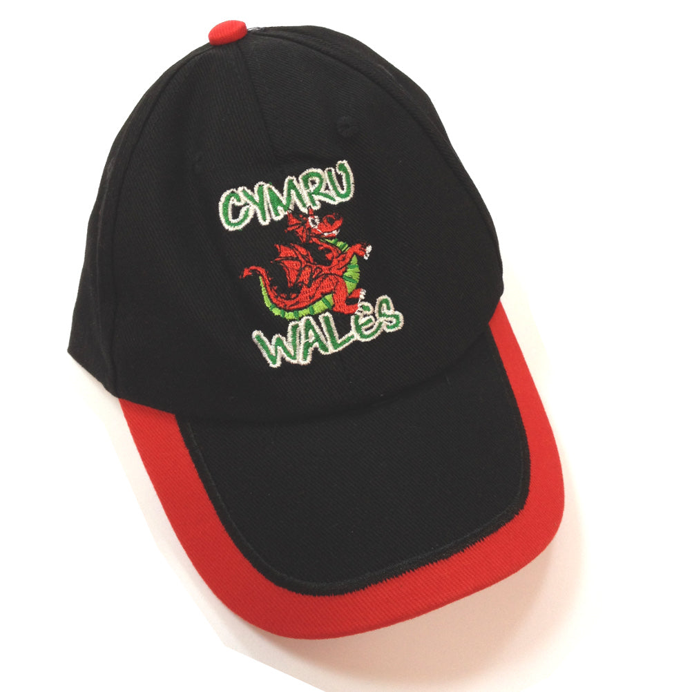 Wales Cymru Cartoon Dragon Childs Baseball Cap [wa169]