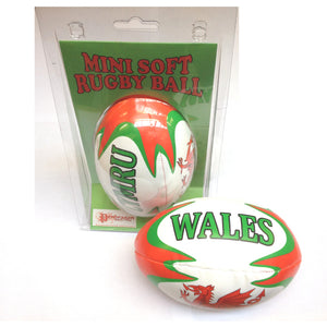Wales Rugby Mini Soft Ball (clamshell pack) wr20