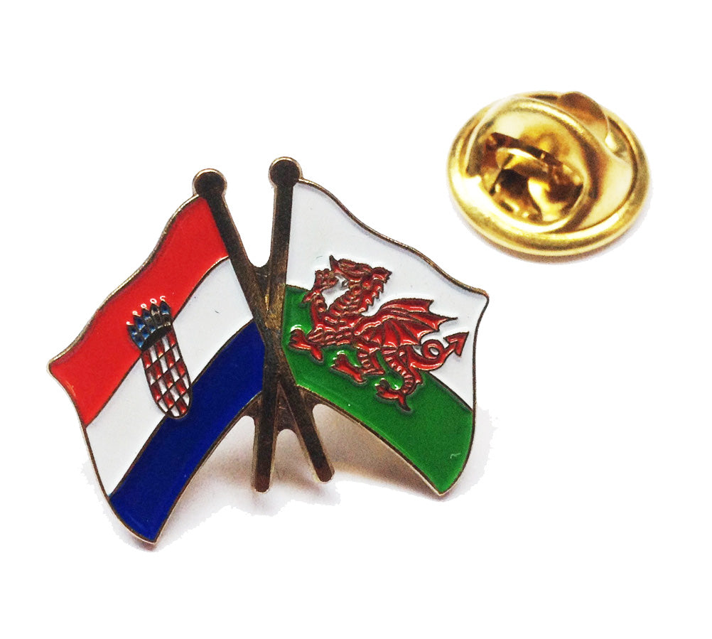 Wales / Croatia Friendship Pin Badge [wb212]